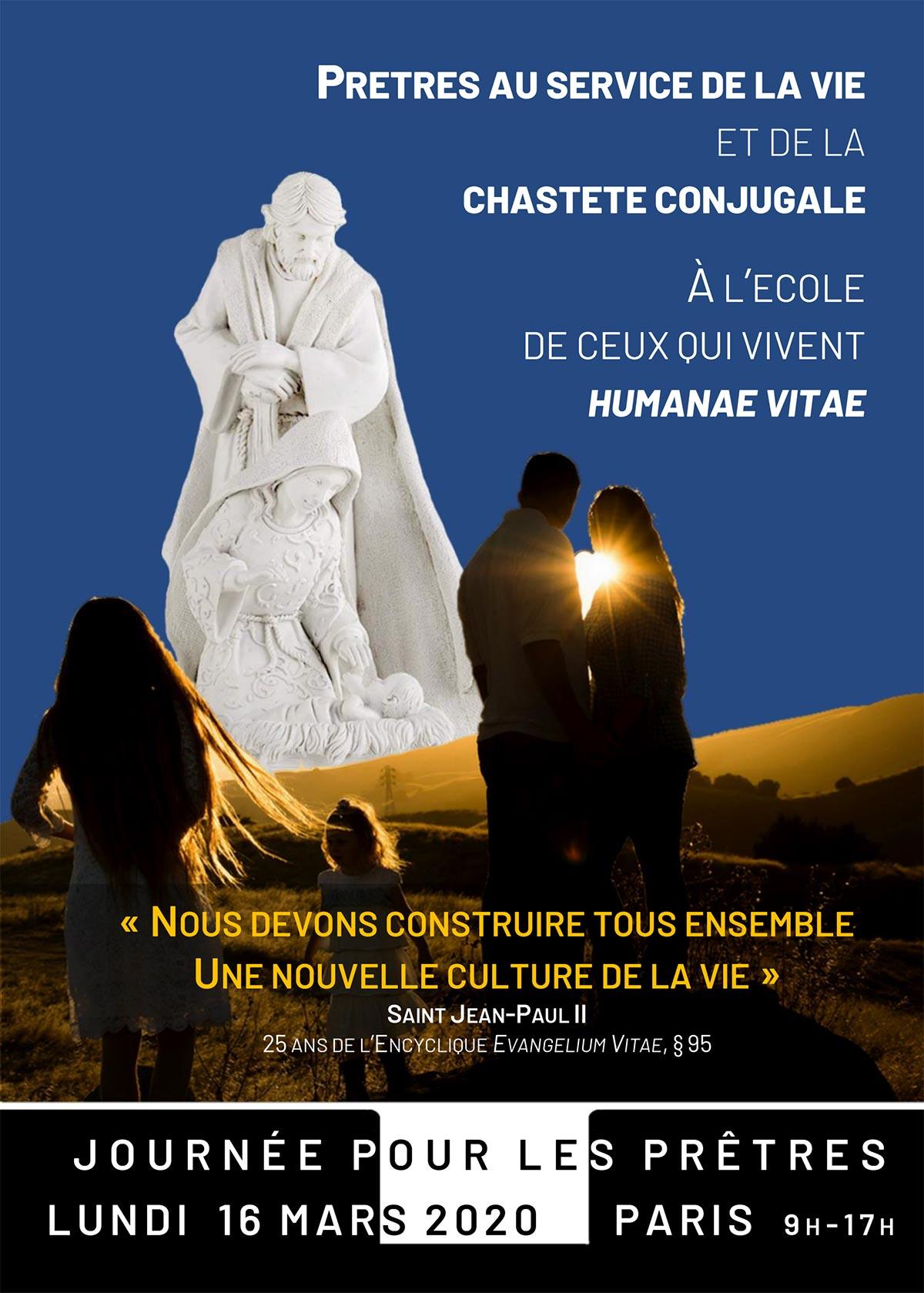 Journée pour les prêtres à Paris le 16 mars 2020